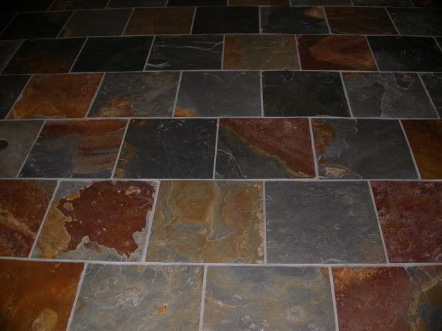 These slate tiles would look great in the sunroom for Solarium flooring