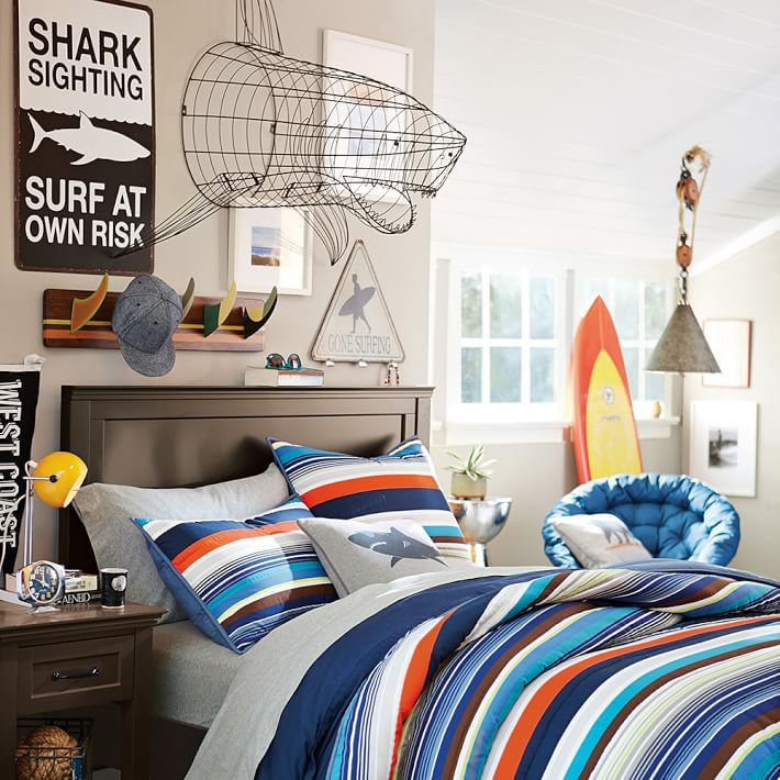Bondi Stripe Comforter Sham Bedroom Ideas House