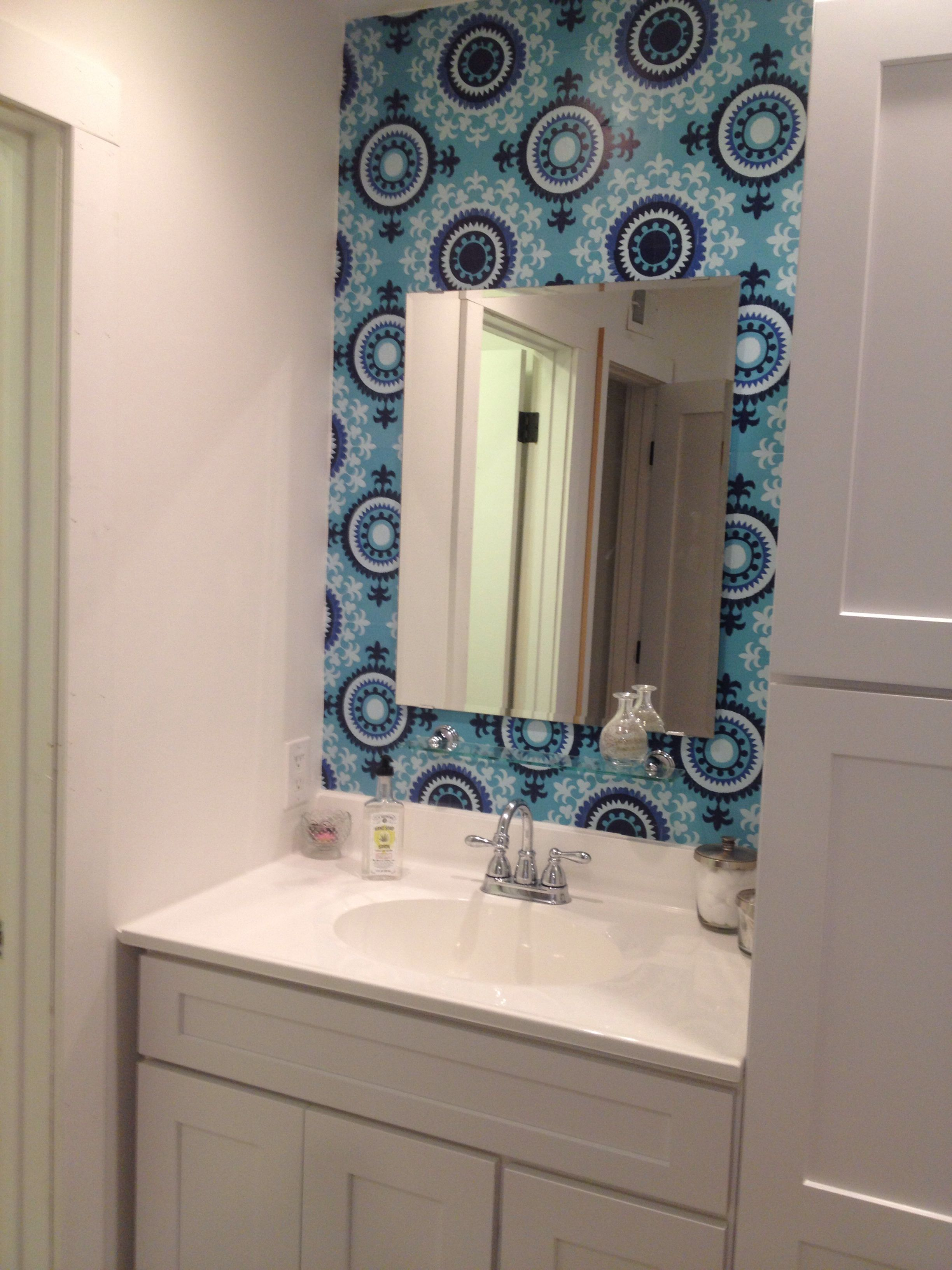 Just finishing off the bathroom with Wallpops, Malaya Blox. Easy to use!  Www.wallpops.com