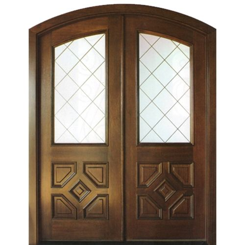 Dsa Doors Sussex E 17 Pre Hung Traditional Arch Top Mahogany Entry Door With Beveled Diamond Pattern Insulated Gl Mahogany Entry Doors Entry Doors Double Doors