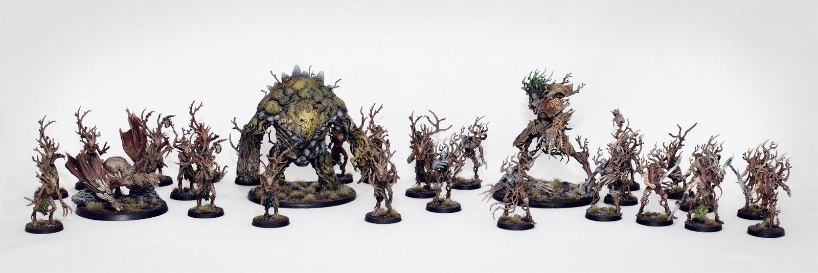 Sylvaneth army with Mórannach, Beast of Cill Chonn Bog by ...