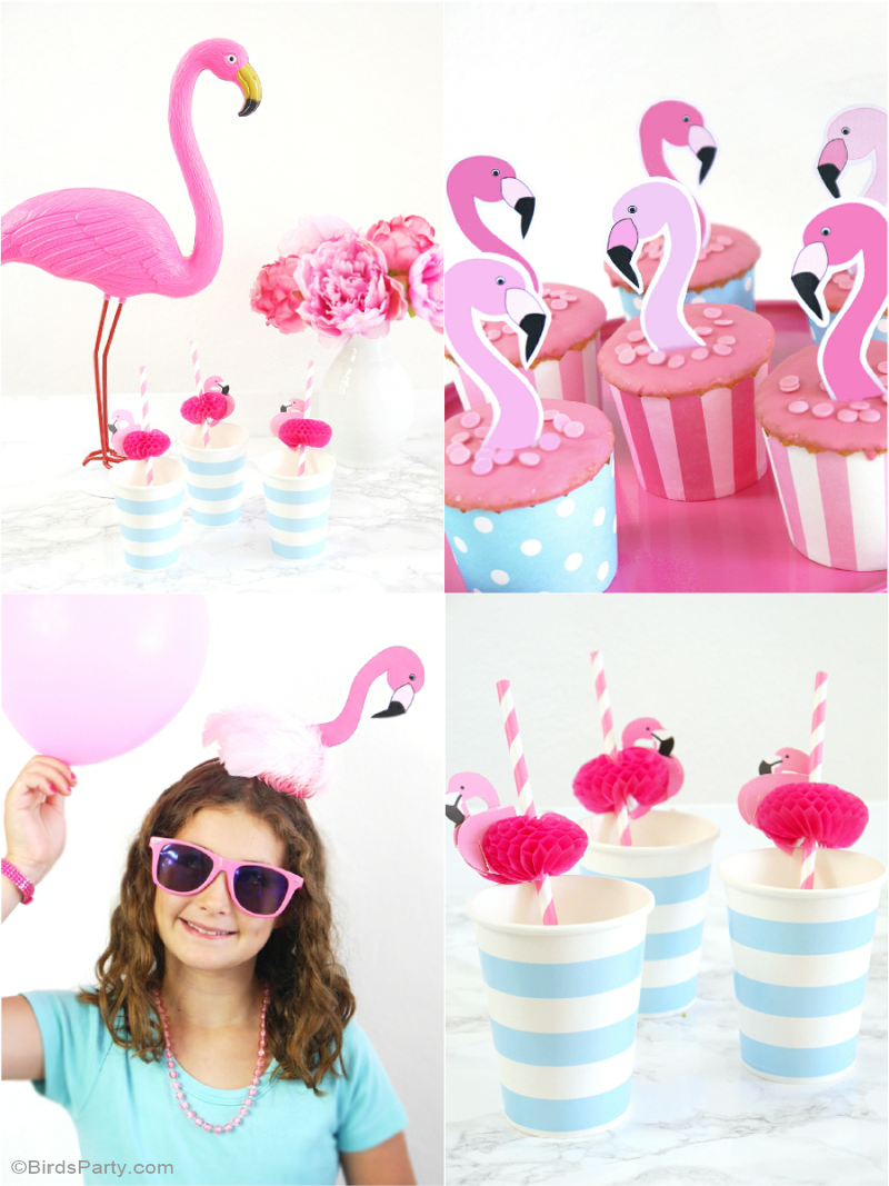 Flamingo Birthday Party Printables Supplies Decorations Flamingo