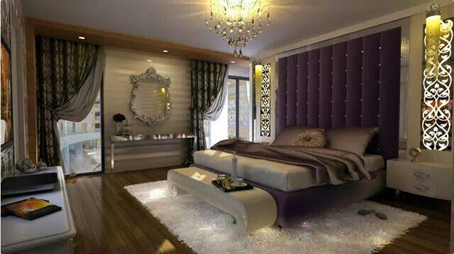 Slaapkamer Bruin Paars : Bruin wit paars slaapkamers