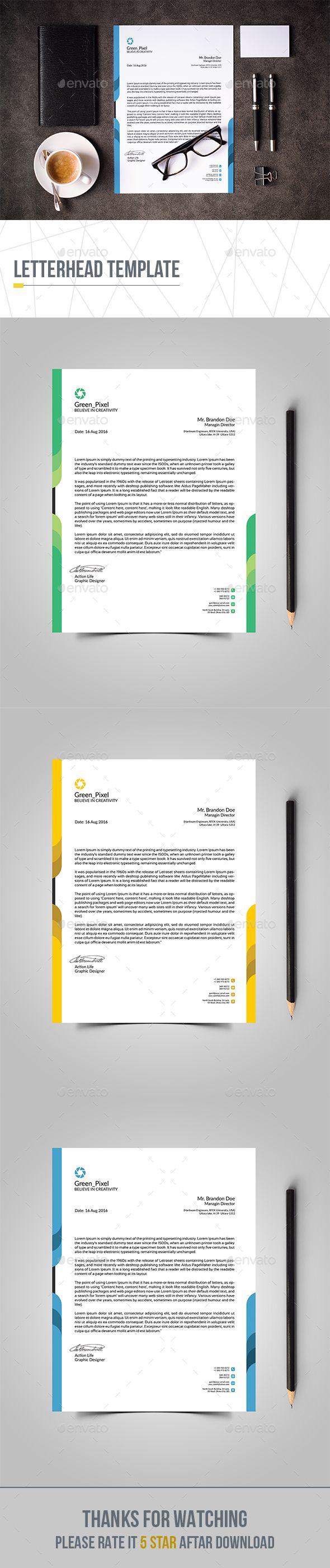 Letterhead template pinterest letterhead template stationery corporate business letterhead design template stationery print template psd download here https wajeb Choice Image