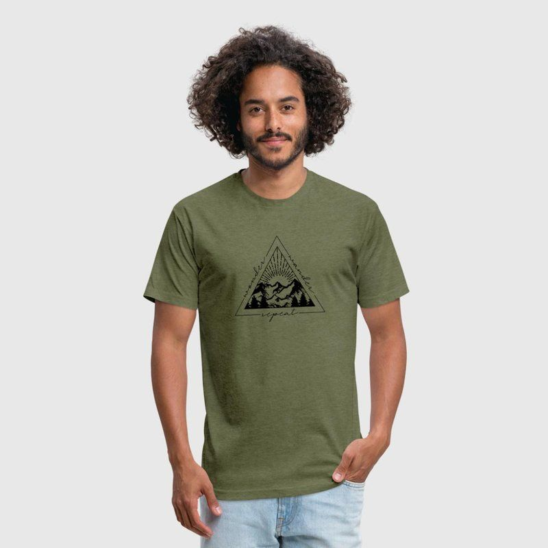 f5a7dc8e6 Our Motto Fitted Cotton/Poly T-Shirt by Next Level #adventure #travel  #wanderlust #outdoor #camping #hiking #mountains