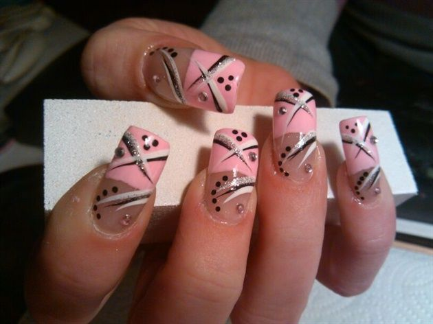 Just Lines And Dots By Pam420 Nail Art Gallery By Nails Magazine Nailart Line Nail Art Simple Nails Dot Nail Art
