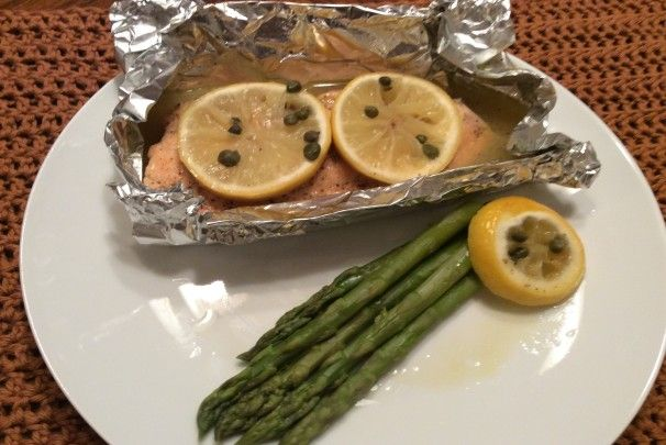 Photo of Baked Salmon With Lemon and Capers Recipe  – Food.com