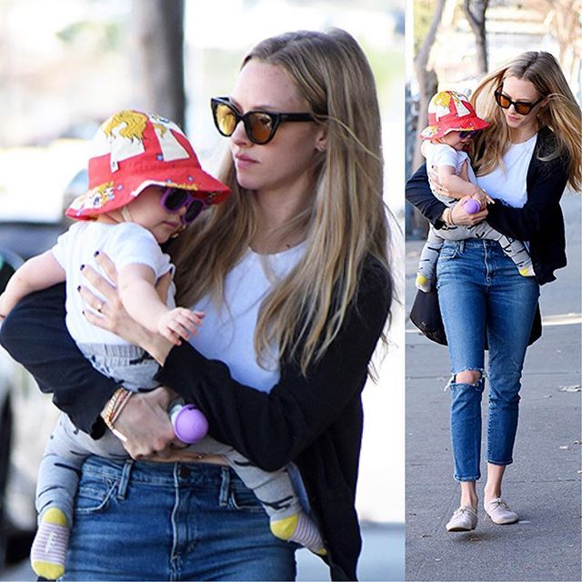 Amanda Seyfried shopping in LA with her 10-month-old ...