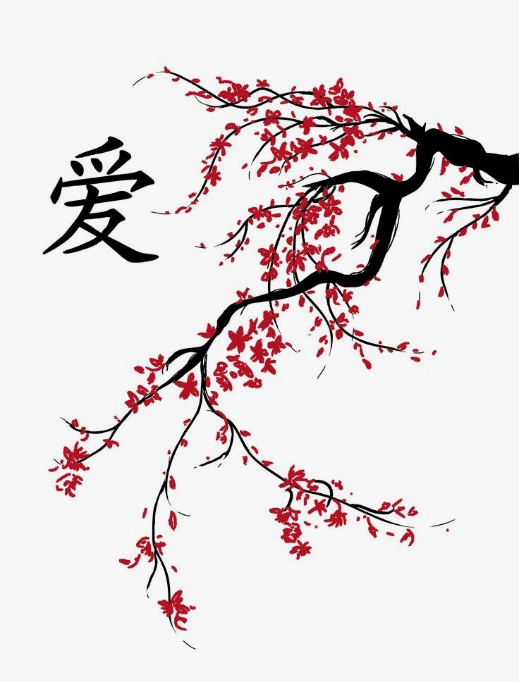 Feng Shui Art Center Blossom Tree Tattoo Cherry Blossom Art Cherry Blossom Painting