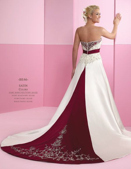 White Red Wedding Dress Bridal Prom Gown Plus Size 4 38 Red Wedding Dresses Burgundy Wedding Dress Wedding Dresses