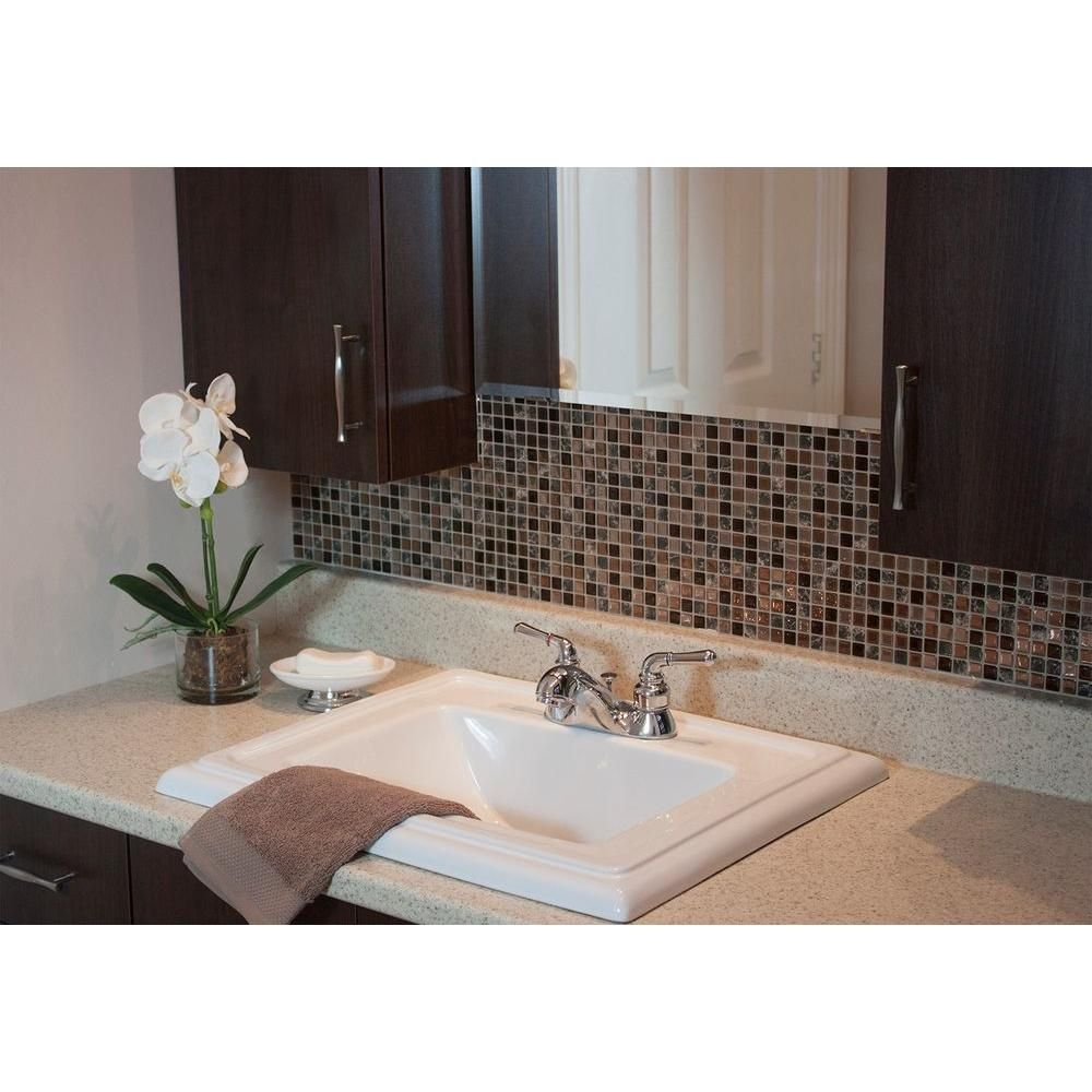 Peel And Stick Mosaic Decorative Wall Tile In Bellagio Smart Tiles Minimo Roca 964 Inx 1155 Inpeel And Stick