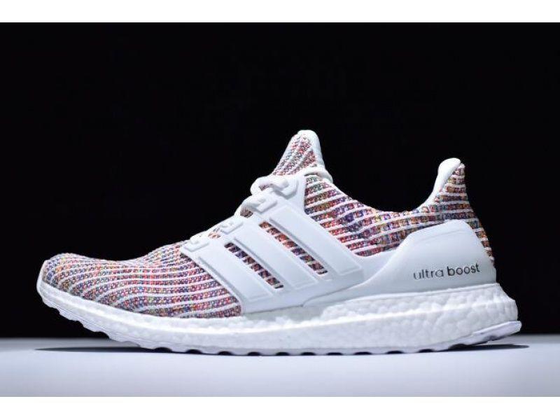 Adidas Ultra Boost 4 0 White Multi Color Bb8698 In 2020