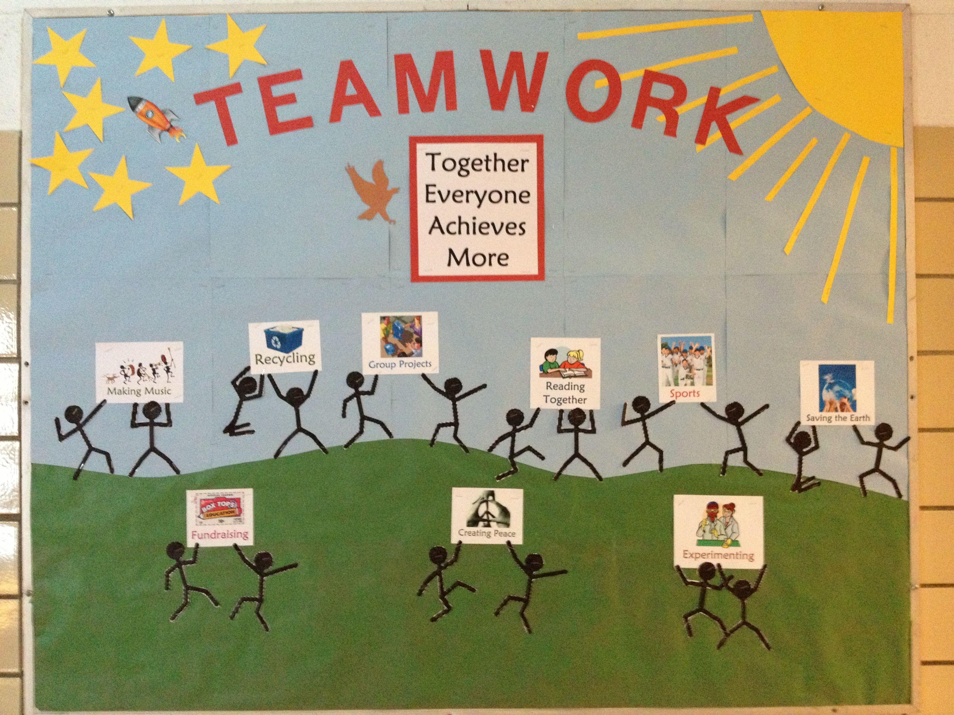 Pin By Margaret Thoele On Teamwork Teamwork Bulletin Boards Teacher Appreciation Doors Bulletin Boards Theme