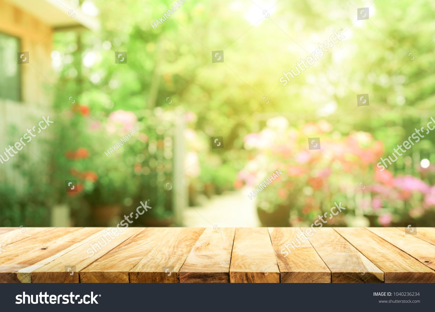 Empty Wood Table Top On Blur Abstract Green From Garden And House Background For Montage Product Display Top Blur Abstract Wood Table Top Wood Table Table Top