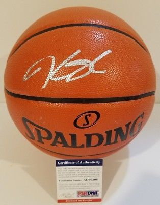 437e1bb349b Kevin Durant signed basketball PSA/DNA Golden State Warriors autographed KD  NBA