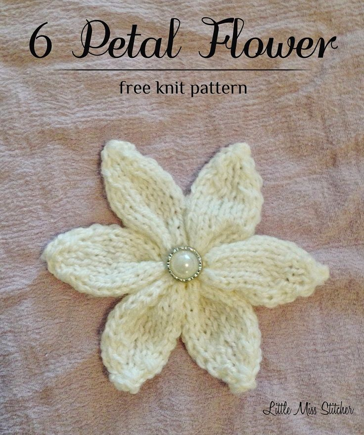 TOP 60 Free Flower Patterns To Knit This Spring Knitting Simple Free Knitted Flower Patterns