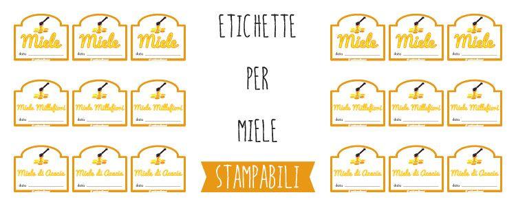 Ben noto 6 tipi di etichette per barattoli di Miele. Scegli, scarica e  PT69