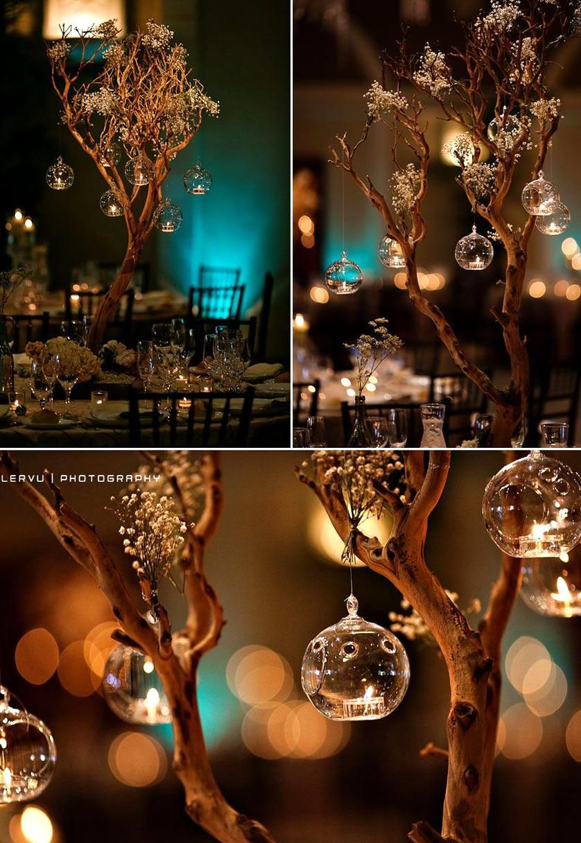 Tree Branches Centerpiece Candles Designed By Asiel Design In 2020 Cheap Wedding Centerpieces Branch Centerpieces Tree Branch Centerpieces
