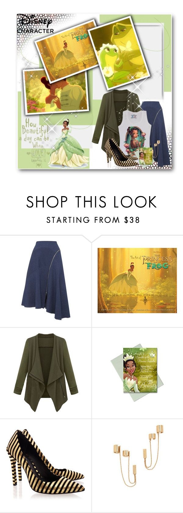 """""""Disney's Princess Tiana"""" by eclectic-chic ❤ liked on Polyvore featuring Whistles, WithChic, Disney, Rachel Zoe, romantic, disney, Disneyprincess and disneycharacter"""