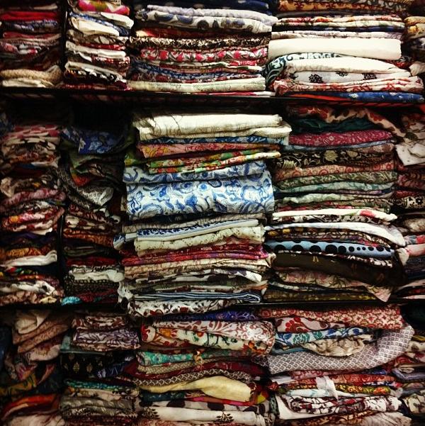 Hand-block-printed #textiles overload. #merchantsociety #behindthescenes