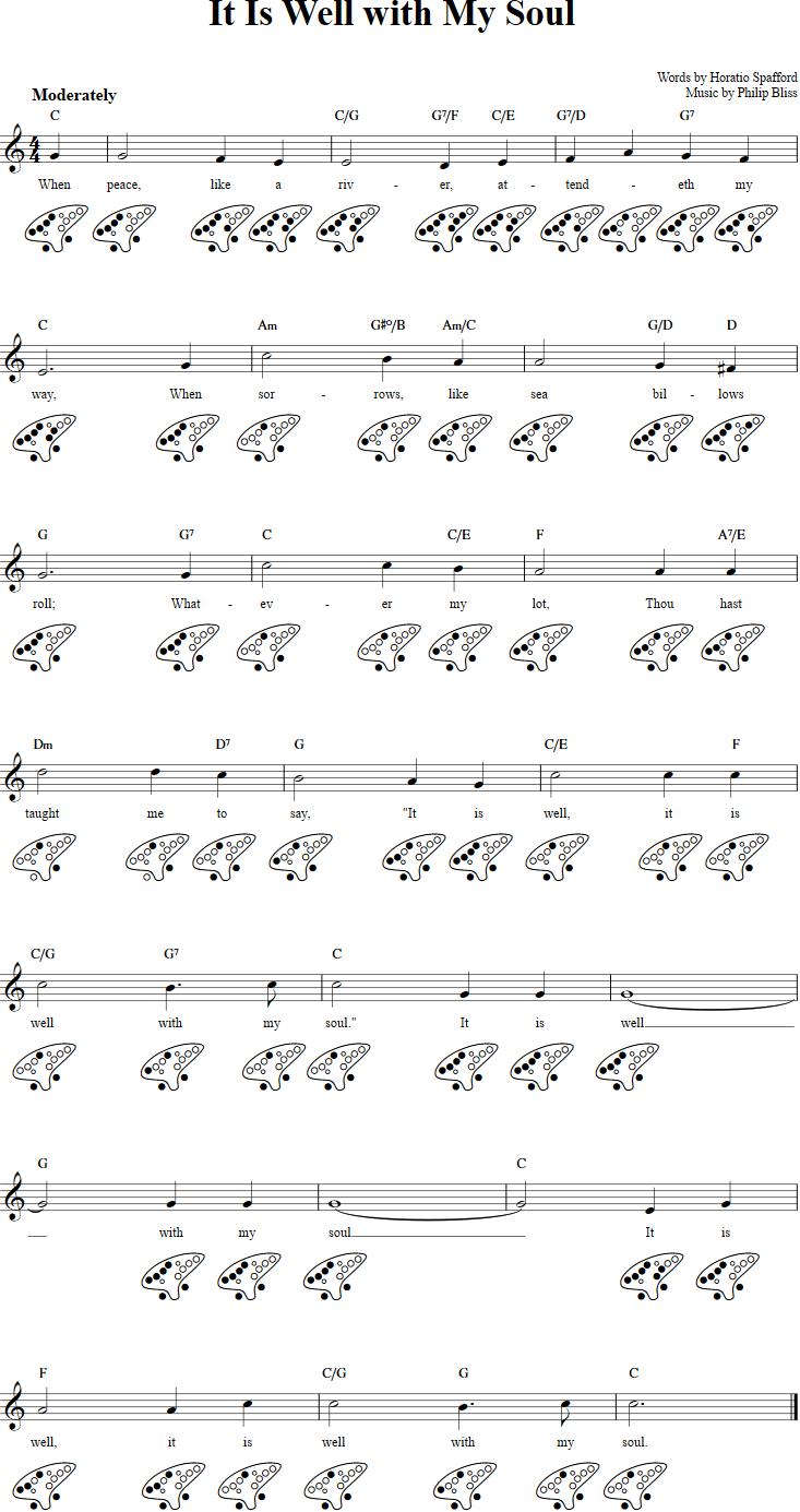It Is Well With My Soul Chords, Sheet Music, and Tab for 15 Hole ...