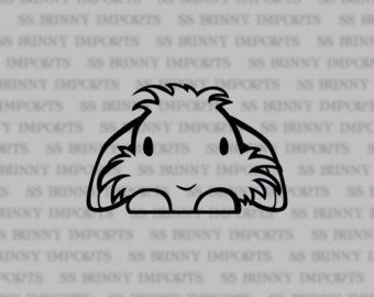 Photo of Peeking lionhead lop decal