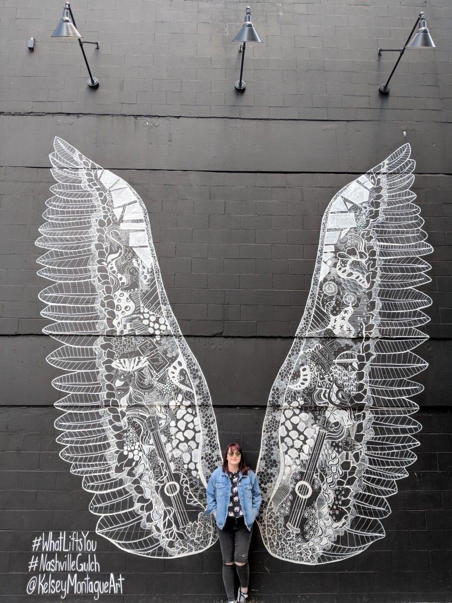 The Best Nashville Wall Murals And Where To Find Them Yoko Meshi Mural Nashville Murals Wings Art