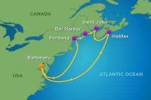 Royal Caribbean Night Canada New England Cruise From - Last minute cruises from baltimore