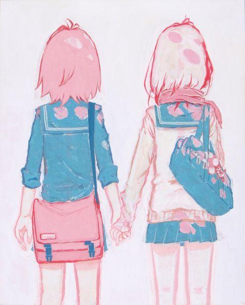 Girls Holding Hands Girls Holding Hands Anime Girlxgirl Anime