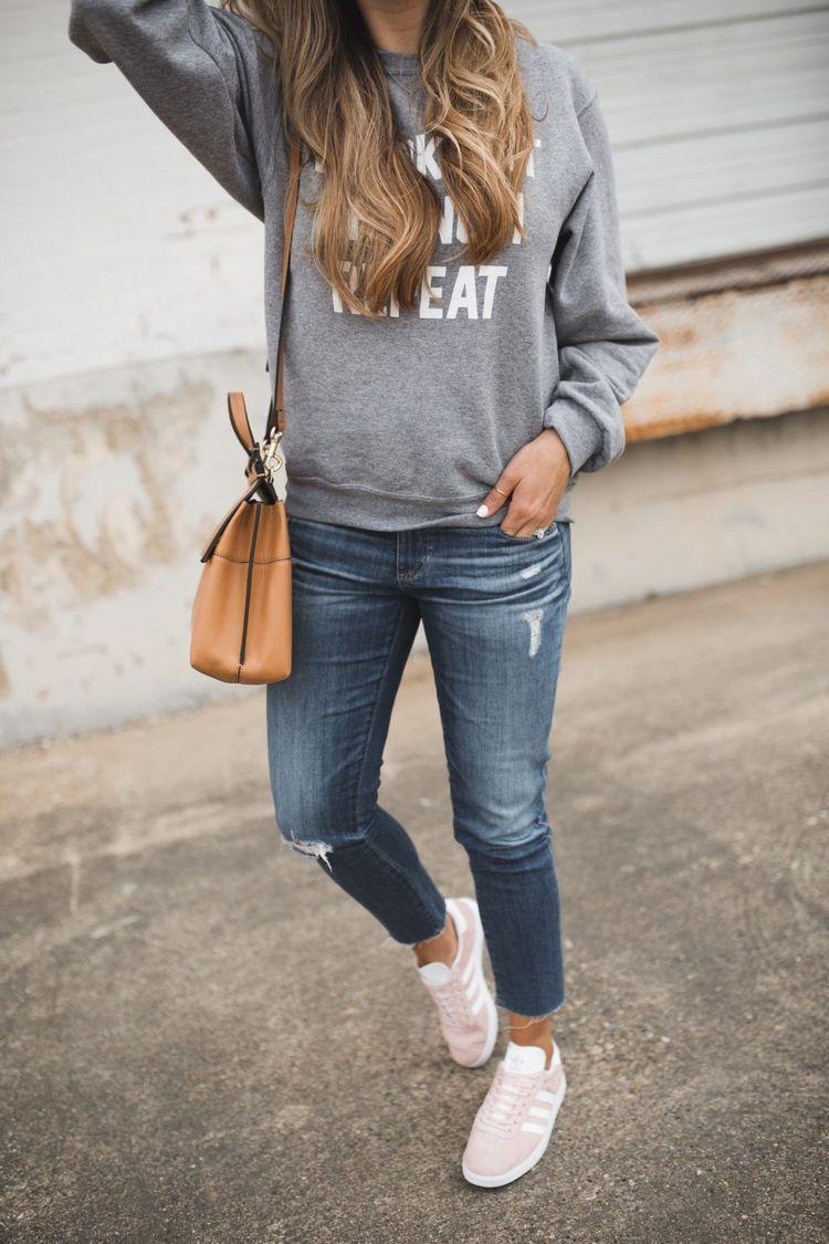 How I Style my Adidas Gazelle Sneakers | The Teacher Diva: a