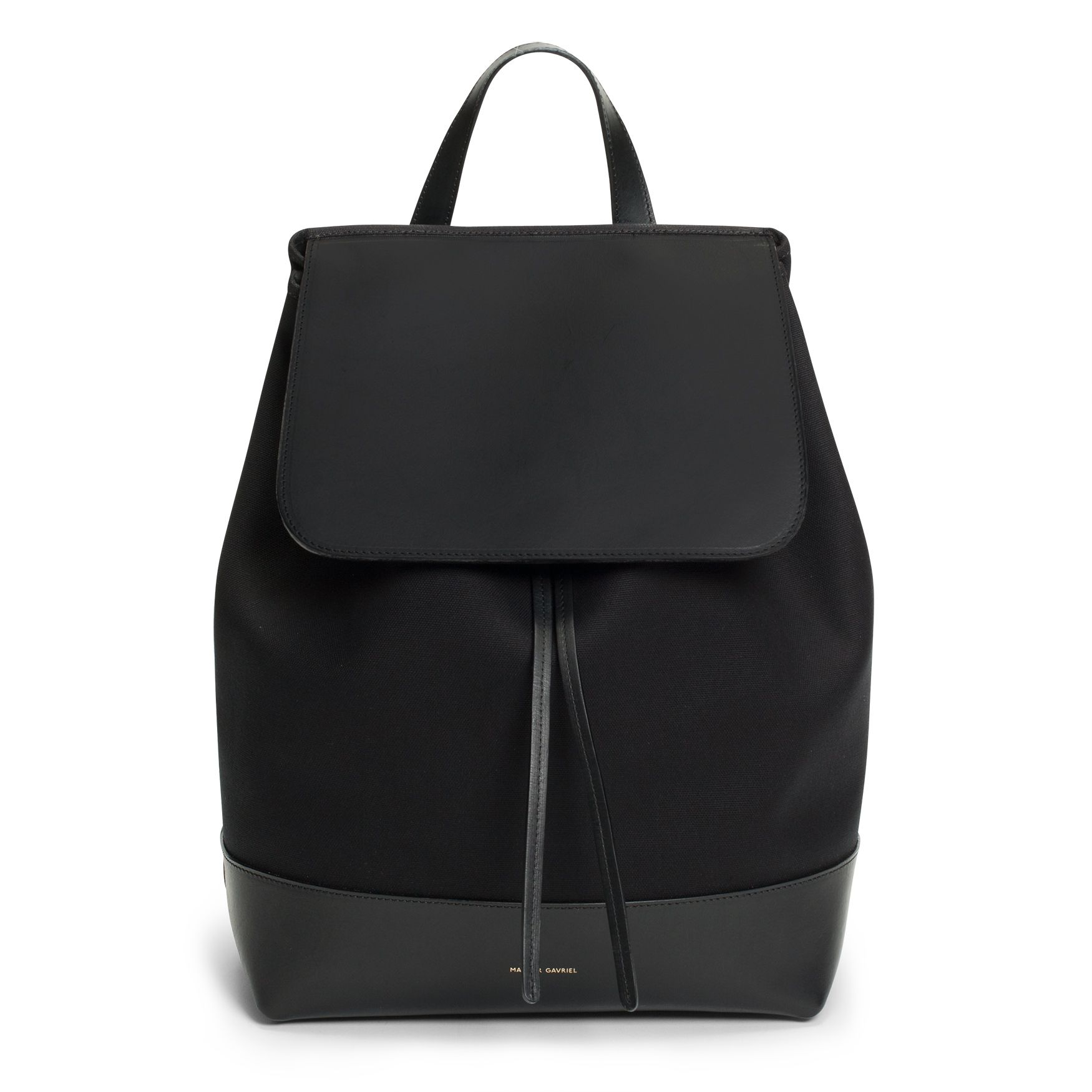 Mansur Gavriel Mini tumbled leather backpack (2.745 RON) ❤ liked on  Polyvore featuring bags 8661c2b46a2