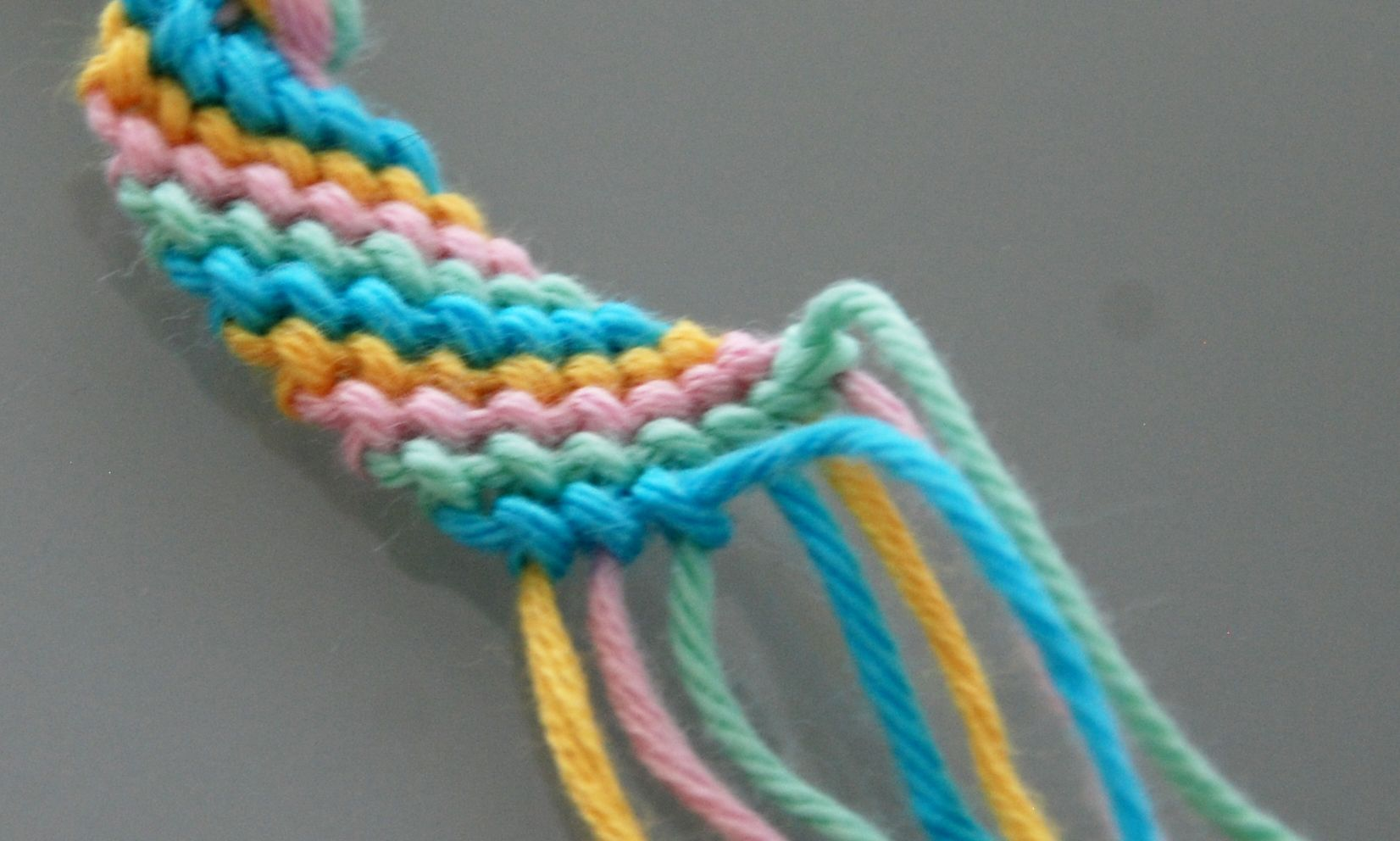 by thread chevron friendship pastel diy embroidery row first bracelet claireabellemakes left