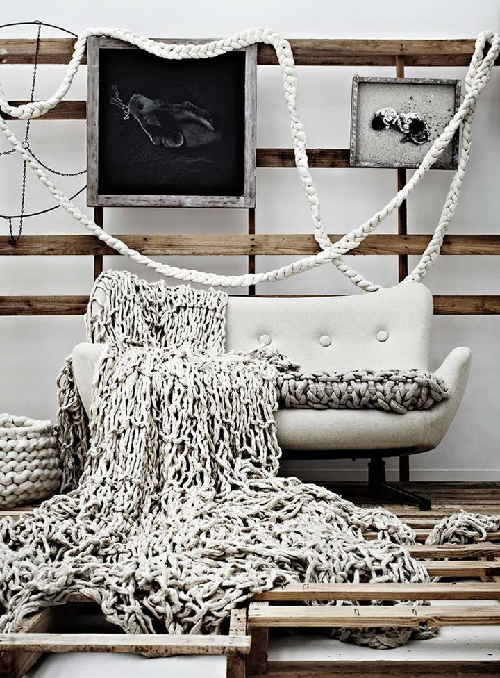 Oversize knitting.Modern Knits for Interior | Modern Knits for ...