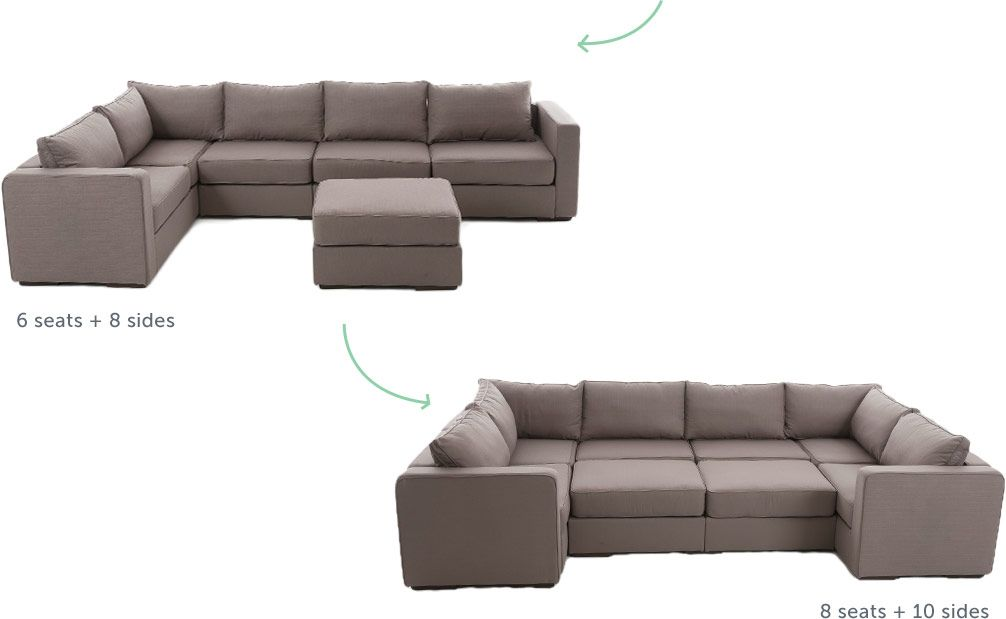 Lovesac Awesome Couch 6 Seats 8 Sides Expand To 8 Seats And