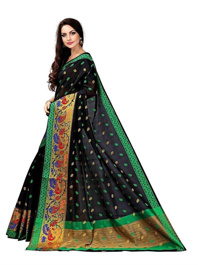 Black colour saree images buy black color art silk saree on zinnga fashions saree