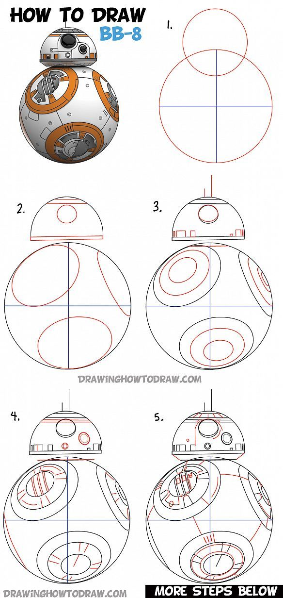 how to draw bb 8 beeby ate droid from star wars drawing tutorial