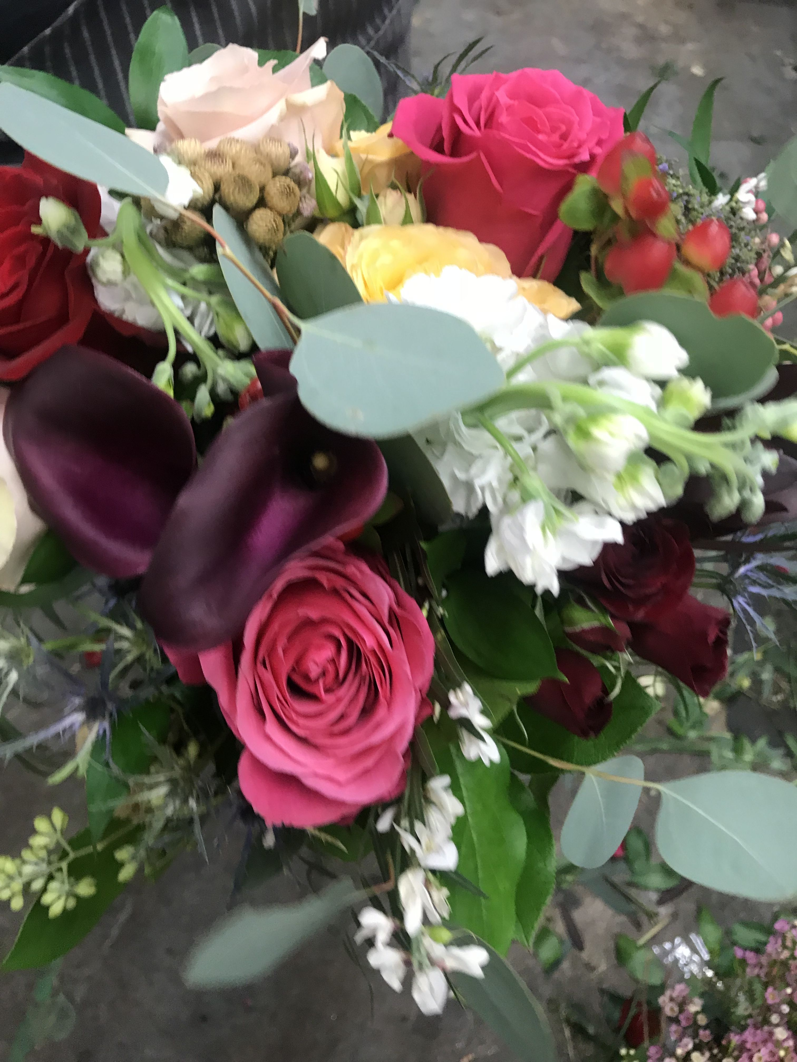 Fabulous Palette Of Jewel Tones For An Eg Bride Englishgardenraleigh Flower Delivery English Garden Flowers