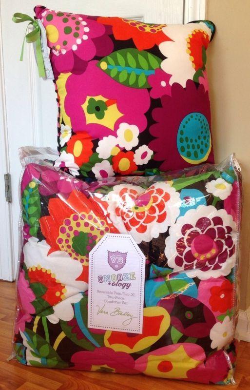 For Sale Ebay Vera Bradley Va Va Bloom Xl Twin Comforter