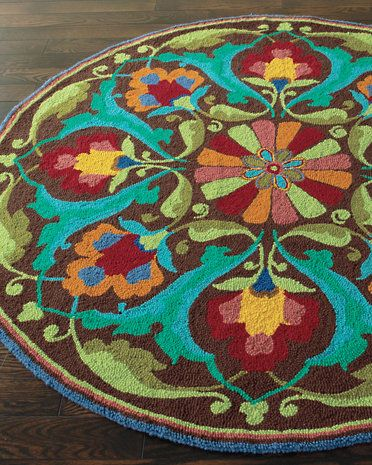 Porcelain Garden Hooked Wool Rug by Company C