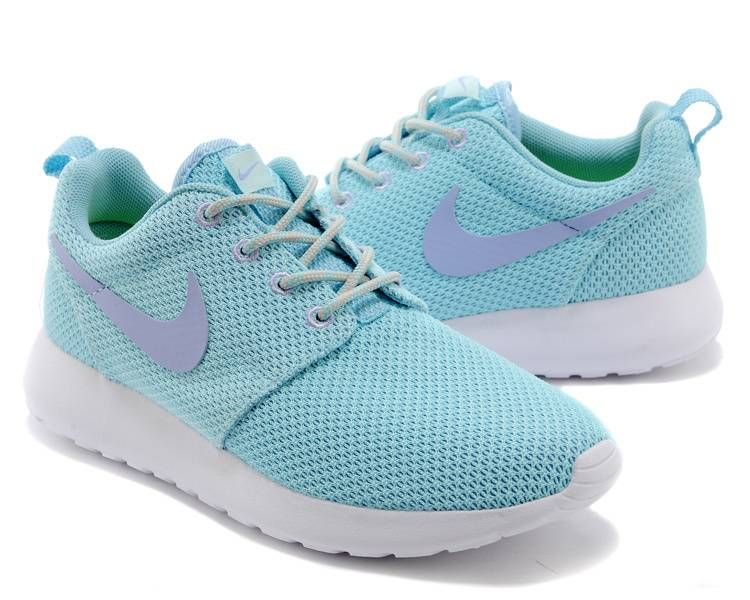 Nike Roshe Run Women Light Blue Shoes