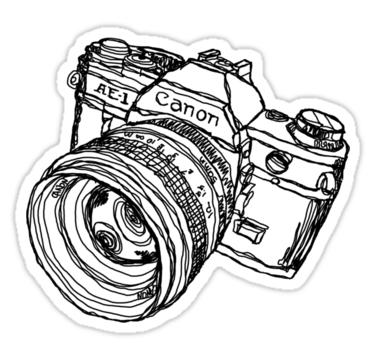Canon AE-1 Illustration T-shirt or Sticker by strayfoto