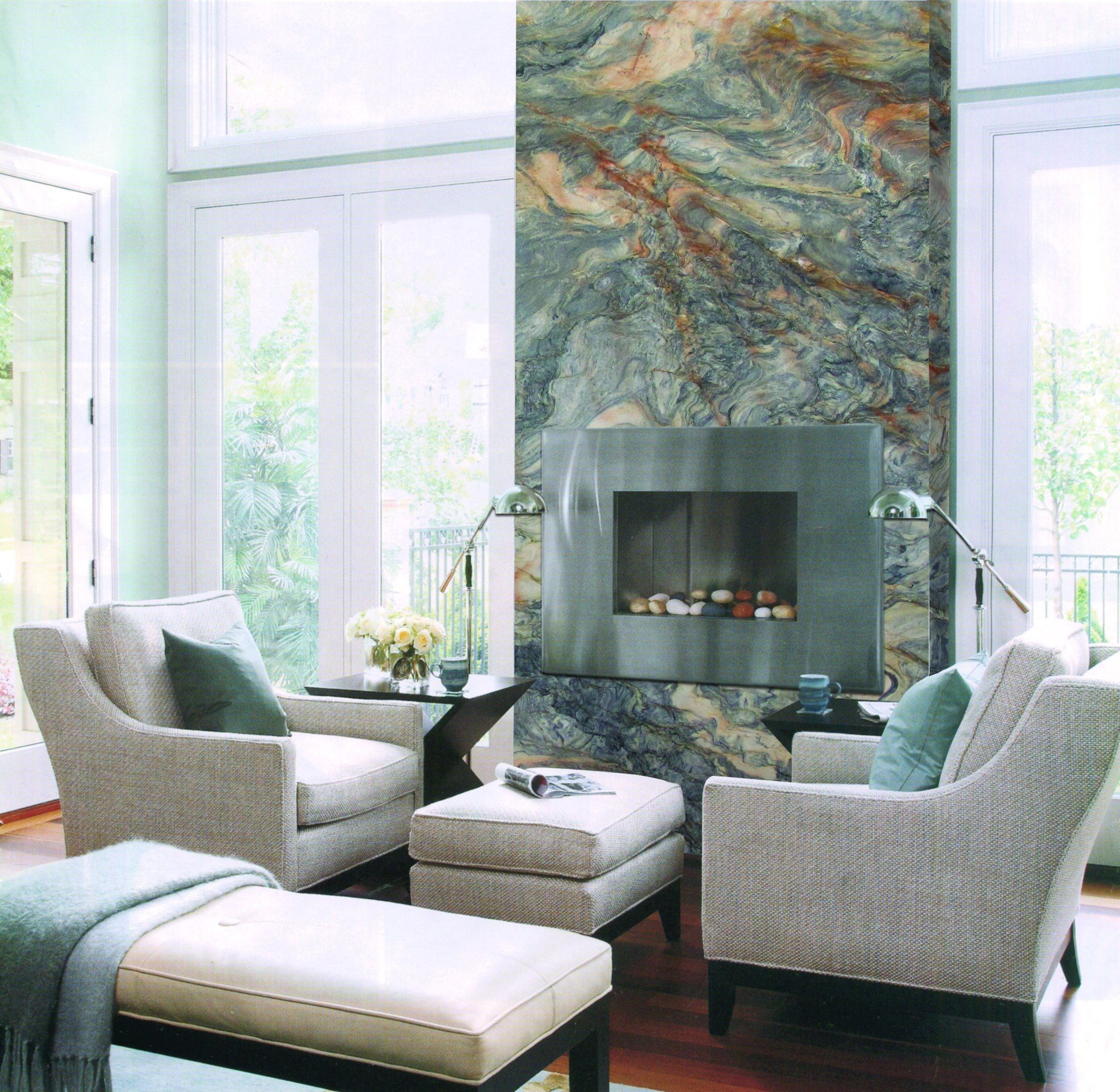 fusion super exotic quartzite fireplace feature exotic feature