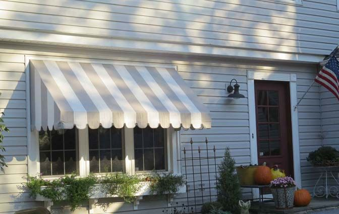 Bay Window Awning In Baltimore By A. Hoffman Awning Company.