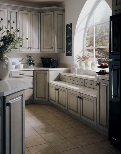 White Cabinets With Pewter Glaze Google Search Antique
