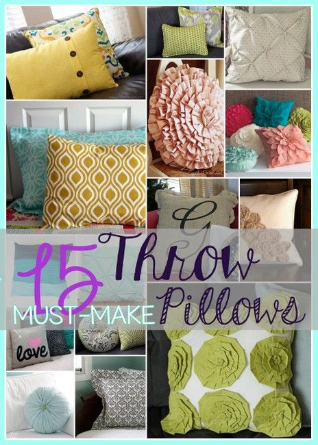 15 Must Make Throw Pillows For Spring Free Sewing Patterns