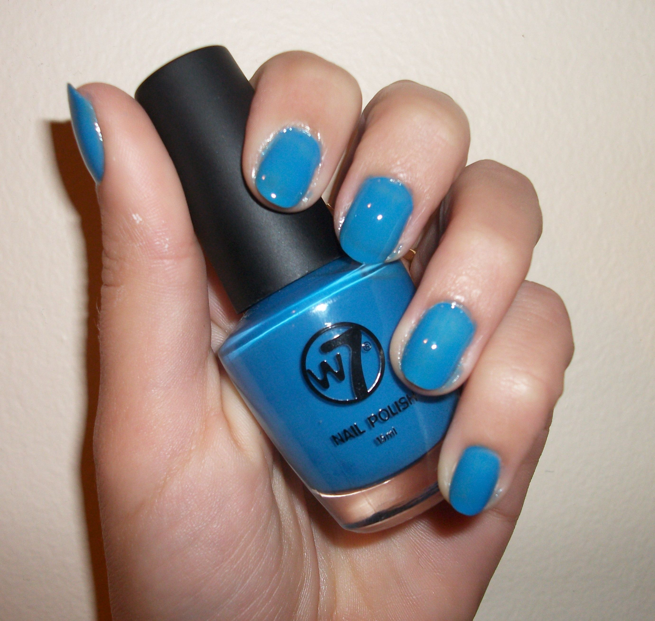 Nail polish W7 Neon Blue | W7 Nagellak | Pinterest | Dupes