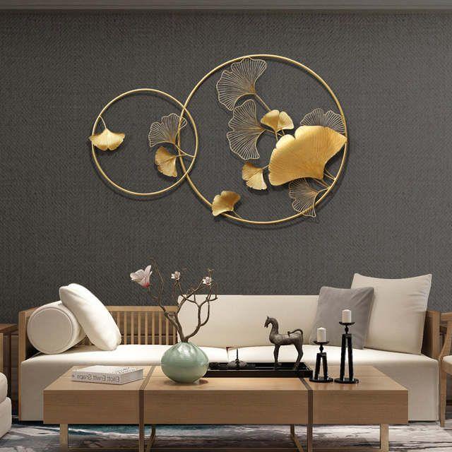 Novo chinês parede de ferro forjado ginkgo biloba decoração para casa artesanato criativo parede pendurado sofá fundo mural ornamento decoração Loja Online   AliExpress móvel