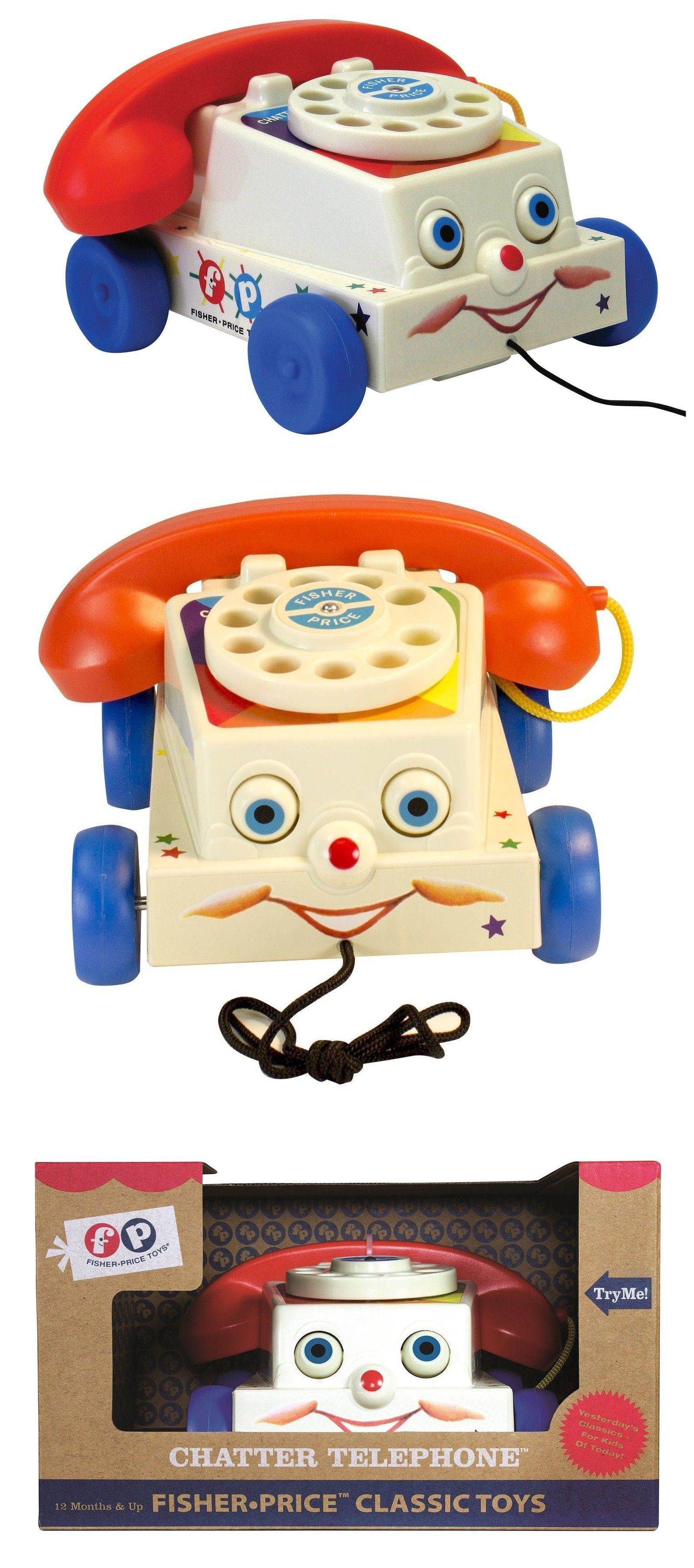 Pull Toys 2528 Fisher Price Classic Chatter Phone BUY IT NOW