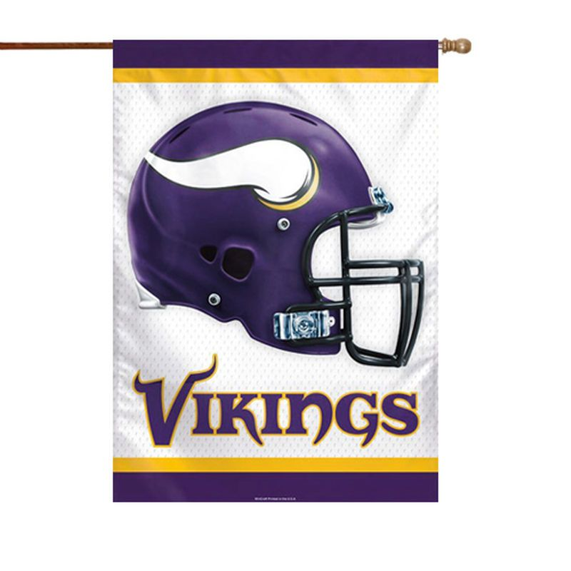 Minnesota Vikings Wincraft 28 X 40 Double Sided Banner Flag