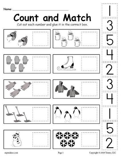 Winter Full Pages Preschool Printable Worksheet In 2020 Free